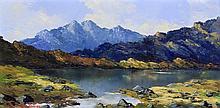Charles Wyatt Warren (Welsh, 1908-1993) - 'The Cuillans, Skye' Oil on board