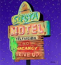 Janet Maud Rotenberg (Canadian, 1956-2007) - 'Siesta Motel' Oil on canvas,