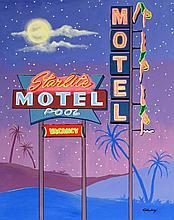 Janet Maud Rotenberg (Canadian, 1956-2007) - 'Starlight Motel' Oil on canva