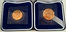A cased Elizabeth II gold proof sovereign dated 2000 Cased proof Elizabeth