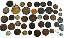 A collection of assorted 19th Century coinage To include silver crown dated