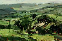 John McCombs NDD ROI RBA FRSA PMAFA (British, b. 1943) - 'A Moorland Church