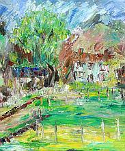 Hilda Washington (20th Century) - 'Rainow, Near Macclesfield' Oil on canvas