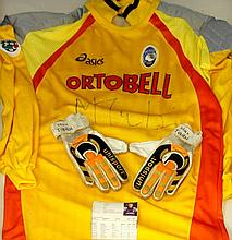 A Massimo Taibi montage To include an autographed Palmero football jersey a
