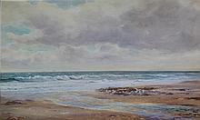 James Aitken (British, 1846-1897) - 'Shore Line' Watercolour, signed, appro
