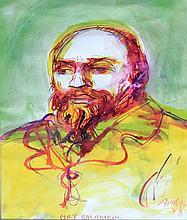 Antoni Sulek (Polish, 1951-1988) - 'Portrait of Mily Balakirev' Watercolour