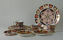 Royal Crown Derby imari, pattern numbers 1128 and 2451 To include 21cm cabi