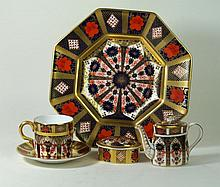 Royal Crown Derby, pattern number 1128 To include octagonal plate, diameter