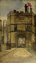Sir Frank William Brangwyn RA RWS RBA (British, 1867-1956) - 'The Gates of