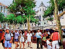 Tony Rome (American, 20th/21st Century) - 'St. Jean de Luz s/w France' Oil