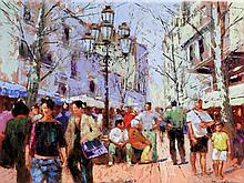 Tony Rome (American, 20th/21st Century) - 'Summer in Marbella' Oil on board
