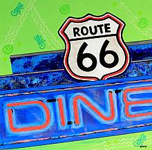 Janet Maud Rotenberg (Canadian, 1956-2007) - 'Route 66 Diner' Oil on canvas