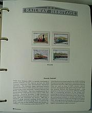 Six albums from the Railway Heritage Collection of mint and used stamps Tog