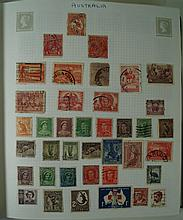 A mixed collection of mint and used World stamps  Contained within four alb