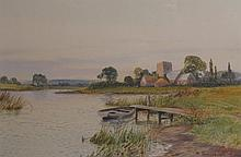Marion Jackson (British 19th/20th Century), A pair of watercolours Painted