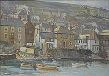 Thomas G. Hill (British 1913-1984), ''Tenby Harbour'' Painted depicting fis