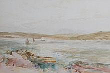 S. Morris (British, 19th/20th Century), ''Isle of Bute'' Painted with boats