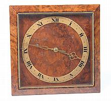 A Maple & Co., Burr Walnut easel clock, circa 1930 The glazed and mitered f
