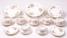 A Royal Crown Derby ''Derby Posy's tea and dinner service'' Comprising six 27cm diameter plates, six 21cm plates, six coffee cups and saucers, six large tea cups and saucers, two oval 25cm plates (44 pieces) (illustrated)