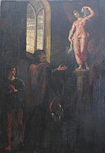 European School (19th/20th Century) ''My last Duchess'' Oil on canvas, relined. 107x75cms