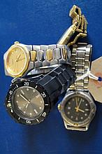A collection of four Gents wristwatches, to includ