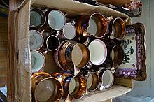 Sixteen pieces of 19th Century lustre pottery incl
