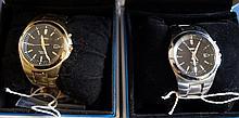 Seiko: Two Seiko Kinetic Gents bracelet strap wris