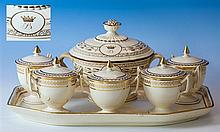 Admiral Lord Nelson interest - A Wedgwood creamware sauce tureen possibly bearing the cipher of the Duke of Brontë the tureen c.1800,