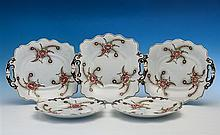A set of William Ridgway dessert dishes and plates c.1834-1854,