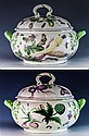 An extremely rare Chelsea 'Hans Sloane' botanical soup tureen and cover c.1755,