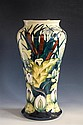 An impressive Lamia vase by Rachel Bishop for Moorcroft large baluster form decorated with water lilies and bull rushes in shades of...