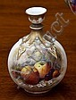 A Royal Worcester bottle vase date code 1924, of globular bottle form, with knopped neck and gilt strapwork decoration,