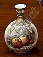 A Royal Worcester bottle vase date code 1924, of globular bottle form, with knopped neck and gilt strapwork decoration,