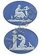 A pair of Wedgwood oval jasper plaques