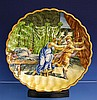 An Italian Istoriato Maiolica Charger 19th century, of dished scalloped form,