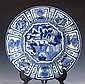 A Chinese blue and white Kraak porcelain charger Wanli period (1573-1619),