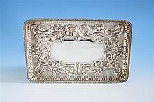 A Victorian silver jewellery tray Cornelius Desormeaux Saunders & James Francis Hollings (Frank) Shepherd, Birmingham 1898,