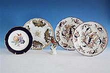 A Meissen (outside decorated) plate late 19th / early 20th century, scalloped rim,