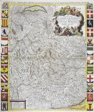 Alexis-Hubert Jaillot (1632-1712) 'Les Estats de Savoye et de Piemont Presente a Monseigneur Le Duc de Bourgogne',