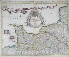 Alexis-Hubert Jaillot (1632-1712) 'Le Duche et Gouvernement de Normandie divisee en Haute et Basse Normandie',