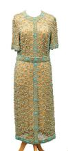 A fine quality vintage evening dress, reputably by Norman Hartnell 1960s,