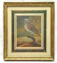 Early Gouache Drawing of Owl