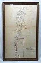 1849 Map Fr. & Eng. Grants Lake Champlain