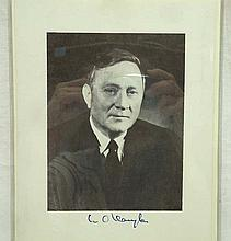 Autographed Print William O. Douglas