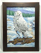 Guache Painting of Owl