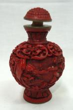 Oriental Carved Snuff Bottle