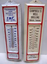 2- Tin Adv. Thermometers