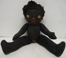 Jointed Cloth Black Doll