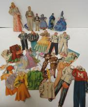 Lot Of Paper Dolls & Accessories