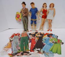 Paulette Goddard & Charlie Chaplin Paper Dolls